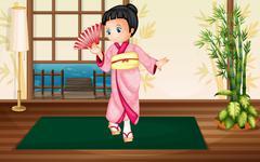 Japaness woman Stock Illustration