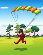Hang gliding Stock Illustration