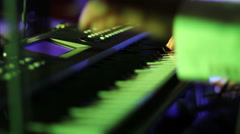 Musician playing on keyboards close up Stock Footage
