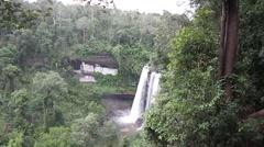 Waterfall in ubonratchathani at thailand Stock Footage