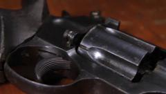 Revolver on a table II Stock Footage