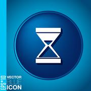 hourglass waiting, icon expectations - stock illustration