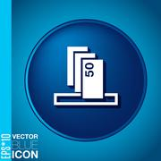 symbol issuing or receiving money from an atm . financial icon . money is giv - stock illustration
