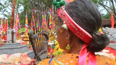 People attended traditional festival Stock Footage