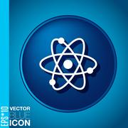 The atom, molecule. symbol icon of physics or chemistry . the study of scienc Stock Illustration
