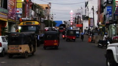 On the street of Negombo, Sri Lanka Stock Footage