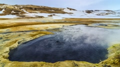 Timelapse of Boiling Mud-pot at Hverir, Iceland Stock Footage