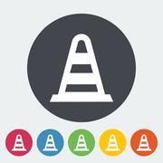 Road Cone single icon. Stock Illustration