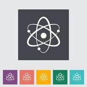 Atom flat icon Stock Illustration