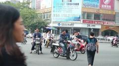 Shenzhen Baoan Avenue traffic landscape Stock Footage