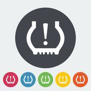 Tire Pressure. - stock illustration