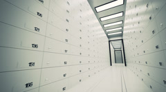 Security Safe Lockers. Money Wealth Secure Stock Footage