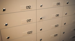 Security Safe Lockers. Money Wealth Secure Key - stock footage