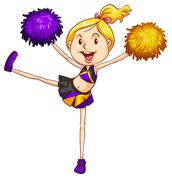 Stock Illustration of An energetic cheerdancer