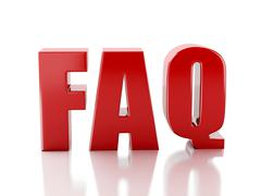 frequently asked questions. faq concept. 3d illustration - stock illustration