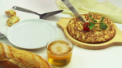 Traditional Spanish  tortilla Stock Footage