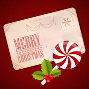 Stock Illustration of merry christmas card and happy new year background
