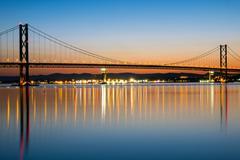 The Forth Road Bridge at dawn Stock Photos