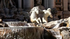 Stock Video Footage of Trevi Fountain, Roma, Italy