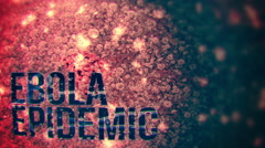 The Ebola Epidemic - 4K seamless looping background. Stock Footage