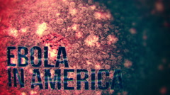Ebola in America - Seamless looping background. Stock Footage
