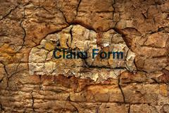 Claim form Stock Illustration