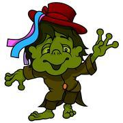 Little Water Goblin Stock Illustration