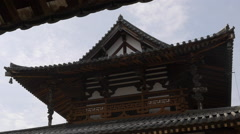 Main Hall at Horyuji in Japan Stock Footage