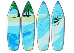 surf board - stock illustration