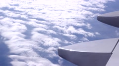Stock Video Footage of view from plane lovely cloudscape
