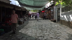 Ephesus Turkey Sirince village market shops HD Stock Footage