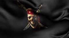Jolly Roger flag 4k Stock Footage