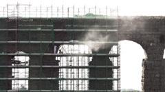 Repairing Aqueduct Marcia, Rome 4k Stock Footage