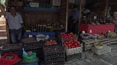 Ephesus Turkey Sirince village vegetable market HD Stock Footage