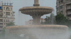 Fountain In Downtown Bucharest, Summar Day,Close Up, Tilt Up Stock Footage
