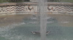 Fountain In Downtown, Hot Summer Day, Detail, Water Splashing, Close Up - stock footage