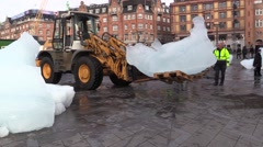 Olafur Eliasson melts 100 tonnes of Greenland ice in Copenhagen Stock Footage