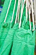 green hammock - stock photo