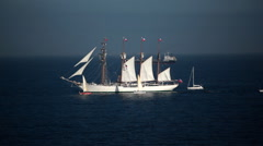 Old sailing ship - stock footage