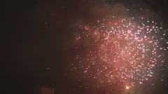 Best firework show on sky, anniversary happy moments view, colorful performance Stock Footage
