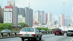 The famous Radial Leste Avenue in Sao Paulo, Brazil. Stock Footage