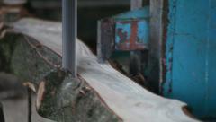 Bandsaw Sawmill Stock Footage