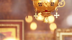 Fragment Lampadas before an icon Stock Footage