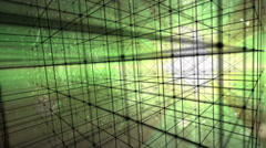 Hypercube 3d particles Stock Footage