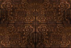 geometric ornament background - stock illustration