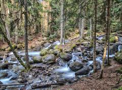 River ullu-murudzhu north caucasus russia Stock Photos