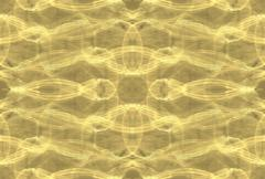 Wavy yellow background unusual twists and loops Stock Illustration