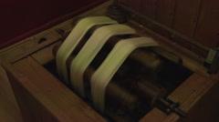 Ephesus Turkey hand spin silk into thread for Turkish rug HD 044 Stock Footage
