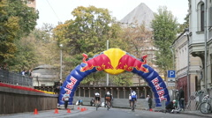Red Bull Fix Boulevard   in Moscow Stock Footage