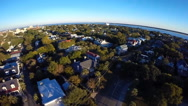 Stock Video Footage of Flyover of a historic downtown neighborhood in Charleston, SC (3 of 4)